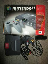 Nintendo 64 Charcoal Grey Console (NTSC) Complete #213 w/ Expansion