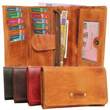 Leder Damen Geldbörse Geldbeutel Portemonnaie Lederbörse rustikal Kartenfächer