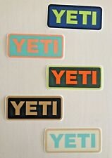 YETI Cooler Stickers Decals Cup Mug Cooler Set of 5 Genuine Authentic