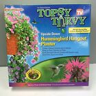 Topsy Turvy Hummingbird Hangout Flower Planter Upside Down Vertical Growing NIB