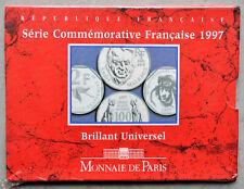 Coffret BU Série commémorative 1997 - 2 pièces (dont 100fr Malraux) - France