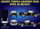 ZOMBIE OUTBREAK ASSAULT VEHICLE FULL GRAPHIC KIT-41 TOTAL VINYL TRUCK CAR DECALS