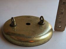 Ceiling Canopy swag lamp chandelier part Vintage Gilt Brass plt tole metal loops