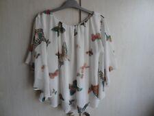 Ample chemisier doublé, blouse, tunique, taille 40 (UK12) - Caméo Rose.
