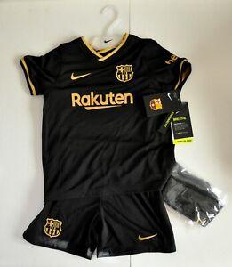 Nike FC Barcelona Away Breathe 2020 2021 Set Unisex Child Size Small cd4589-011