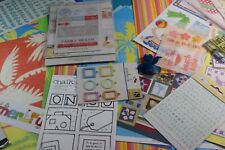Summer/Beach Vacation Scrapbooking Lot Retired Paper Embellishment Stickers