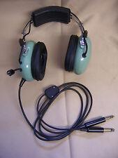 David Clark Aviation HEADPHONES Headset W VOLUME KNOB MIC PLUG M642/5-1 M642/4-1