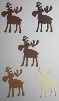 """Chocolate"" MOOSE 3"" inch Set Lot of 20 Handmade punch-outs Cutouts U-Pick color"