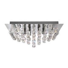 Searchlight Hanna 6404-4CC 4 Light Flush Ceiling Light Polished Chrome
