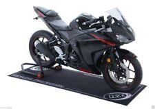 R&G Racing Motorcycle Garage Mat (2m x 0.75m) BLACK WITH WHITE LOGO