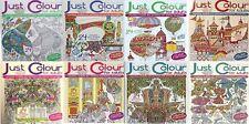 Just color para adultos __ 8 Libro Juego __ Tema 1-8 __ Nuevo __ ENV��O GRATIS GB