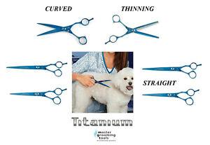 PRO Series TITANIUM&440C STAINLESS STEEL SHEARS SCISSORS Pet Dog Cat GROOMING