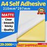 Printable Sticker Paper A4 MATTE Self Adhesive Address Sheet Inkjet Laser Label