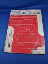 ORR & ORR MOBILE HOME RECREATIONAL VEHICLE TRUCKING INDUSTRY PARTS CATALOG