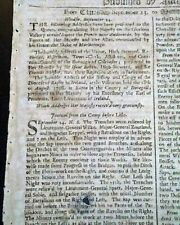 Siege Of Lille Operation War of the Spanish Succession in France 1708 Newspaper