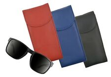 Genuine Leather Double Glasses Holder Eyeglasses Pocket Slim Case Light Weight