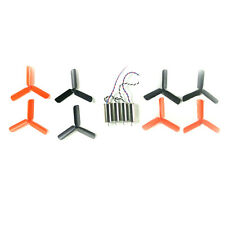 8pcs 3-Blade Propeller 0820 Coreless Motor for DIY Micro FPV Frame Black & Red