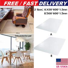 Office Chair Mat Floor Computer Desk Carpet PVC Plastic Clear Protector US STOCK