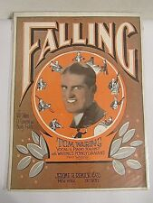 Vintage Falling Song: Tom Waring Sheet Music Notes  (Lot #19)