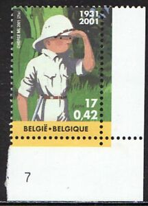 Belgium Europe Vintage 2001 Motif Comics Tim Struppi Cover Corner Edge 3098