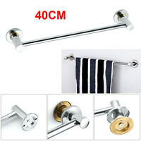 40cm Towel Rail Rack Holder Wall Mounted Bathroom Shelf Chrome Silver UK