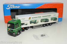 TEKNO MAN M.A.N. TRUCK WITH TRAILER SCHOUTEN TRANSPORT 50 YEARS MINT BOXED