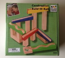 PLAN TOYS Construction Build-N-Roll, Wood Toy, Marble, New