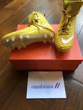 Men's Sz 10.5 Nike Force Savage Elite TD Football Cleats Yellow/White 857063-717