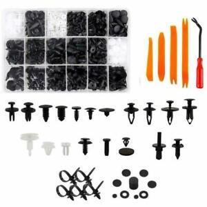 415Pcs Car Auto Retainer Clips Plastic Fasteners Kit Push Pin Rivets Bumper HE06