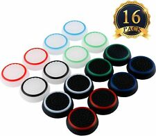 16 Silicone Analog Controller Thumb Stick Grip Cap Cover for Xbox 360/ONE PS3/4