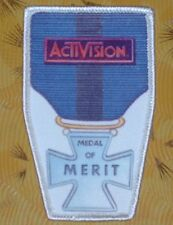 ~ Atari Video Game Vintage 80's Activision Patch - Robot Tank Medal of Merit ~