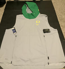 Oregon Ducks Nike Shield Hooded Vest Gray/Green Men's Size 3XL NWT Hoodie