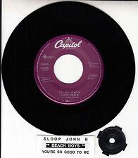 THE BEACH BOYS  Sloop John B & You're So Good Me 45 + juke box title strip NEW
