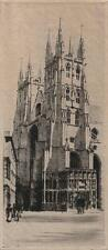 CANTERBURY CATHEDRAL Signed Etching K VERNON c1900