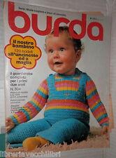 BURDA N 304 1974 Il nostro bambino 120 modelli all uncinetto Ricamo Moda Donna