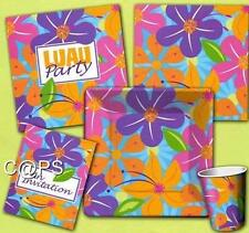 16 x Hibiscus Floral Paper Napkins...Hawaiian...Tropical...Luau Cocktail Party