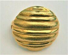 circular brooch scarf ring J718*) Vintage gold tone abstract