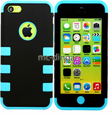 Colorful Heavy Duty Hybrid Rugged Silicone Hard Case Cover For iPhone 5C