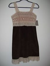 """*NWT!* """" Stunning Anthropologie Zeharvale Brown & Ivory Lace Dress"""" Size 2"""