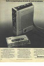 PUBLICITE 1970  SONY le magnétophone de pocheI