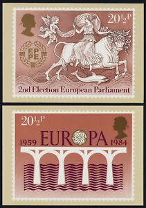 Great Britain PHQ 75a-d PHQ Cards- EUROPA, European Parliament Election