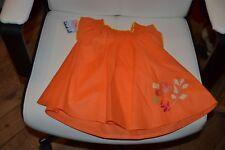 robe sucre d'orge neuve 6 mois orange  avec fleurs
