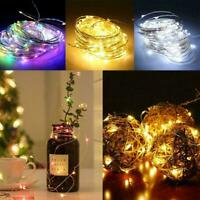 LED Battery-powered Micro Wire Copper Fairy String Party Lights Decor E5T0