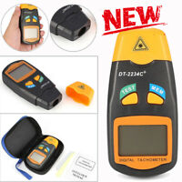 DT2234C+ LCD Digital Mini Non-contact Laser Photo Tachometer RPM Speed Tester TS