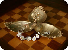 Vintage J & M NOVELTY 24 KT Plated Footed SEA SHELL Bowl Dish Jewelry tray
