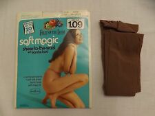 "Vtg 1970s NEW Fruit of the Loom Soft Magic ""Shadow"" Sheer to Waist Pantyhose S/M"
