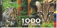COLOMBIA EL CLUB DE LA MONEDA ANIMALES BILLETE 1.000 CAFETEROS 2015