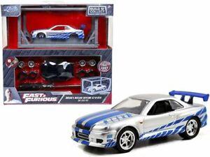 1:55 Brian's Nissan Skyline R34 GT-R -- Fast & Furious JADA -- DIECAST MODEL KIT