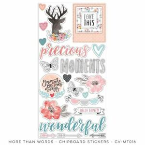 More Than Words Collection - chipboard accent sheet Cocoa Vanilla Studio- cv-MT0