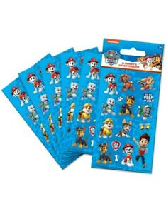 PAW PATROL BOYS Party Stickers (6 Sheets) NEW STYLE - Loot Bag Fillers